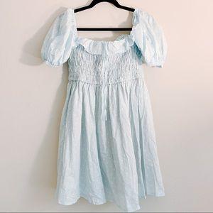 Light Baby Blue Baby Doll Mini Dress